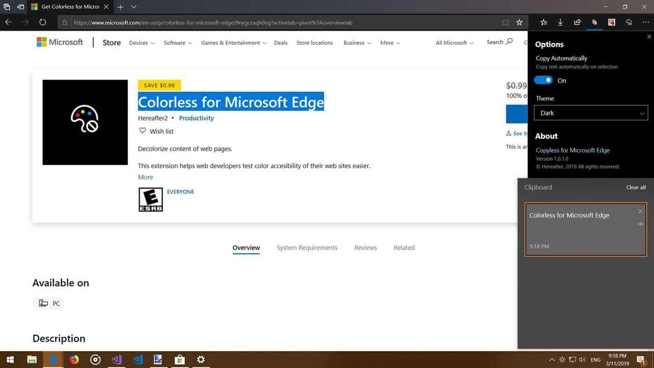 Copyless for Microsoft Edge featured - Tự động sao chép văn bản chọn trên Microsoft Edge