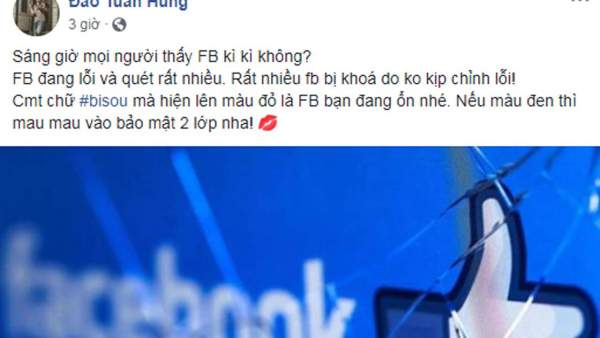 Facebook sap mang 600x338 - Thực hư chuyện gõ #bisou để nick Facebook không bị quét