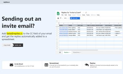 Replies.cc featured 400x240 - Cách tổng hợp email trả lời tự động vào Google Spreadsheet