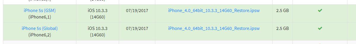 ipsw 10 3 3 - Apple bất ngờ mở sign 10.3.3 cho iPhone 5s, bạn hãy quay về ngay