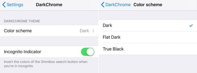 DarkChrome 2 - DarkChrome - đêm giao diện dark mode lên Chrome cho iOS
