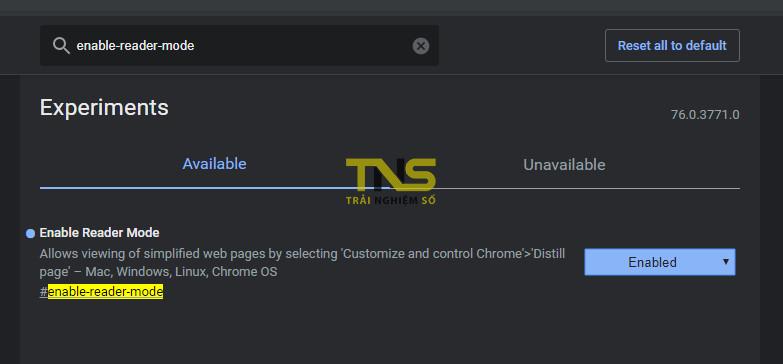 chrome enable reader mode 1 - Cách bật Reading mode mặc định trên Chrome (Distill page)