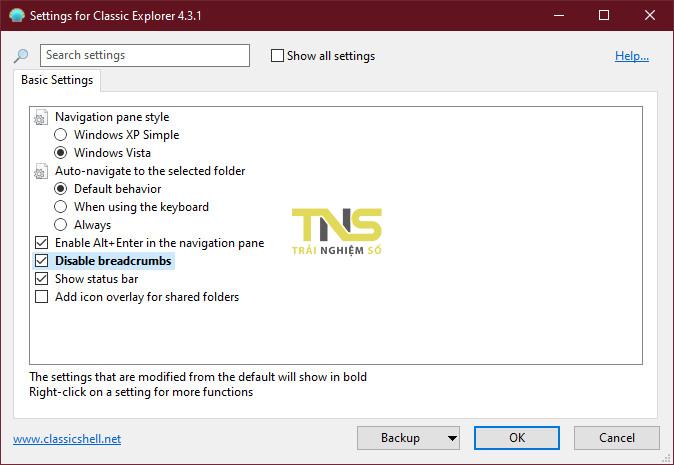 classic explorer 2 - Cách hiển thị đường dẫn thư mục đầy đủ trong File Explorer trên Win 10