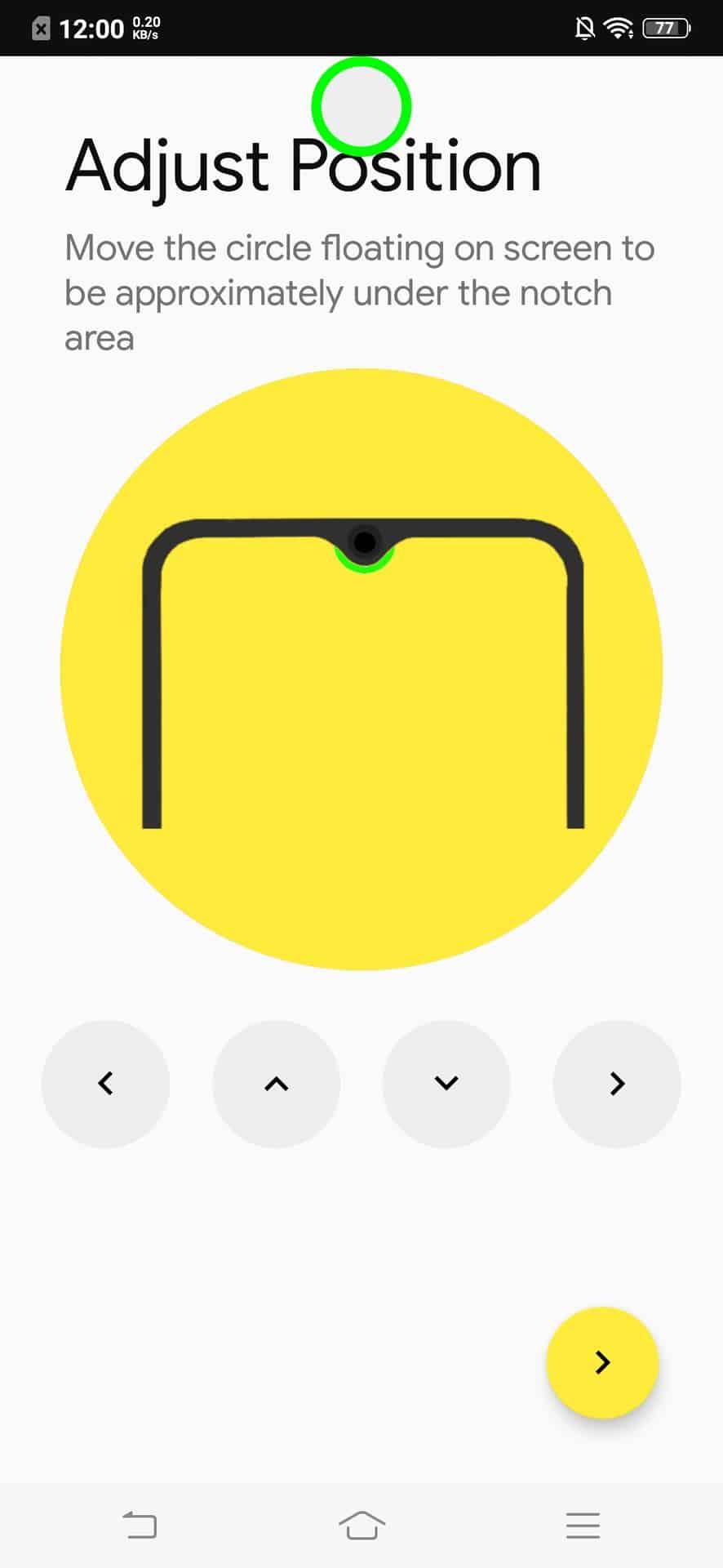notch pie setup - Biến vị trí màn hình giọt nước thành điểm báo pin