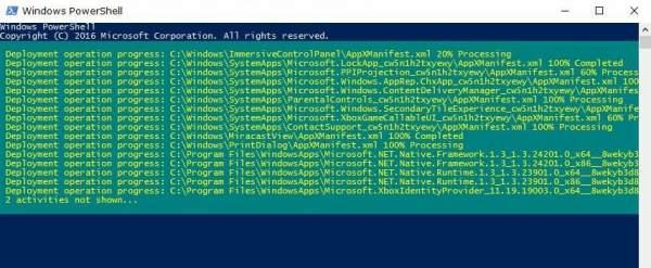 """ng ký lại Start menu 600x247 - Làm gì khi gặp lỗi """"Your Start menu isn't working..."""" khi mở trình đơn Start Windows 10"""