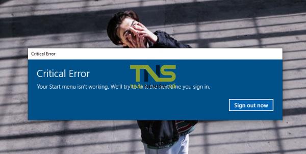 """2019 05 08 14 57 46 600x302 - Làm gì khi gặp lỗi """"Your Start menu isn't working..."""" khi mở trình đơn Start Windows 10"""