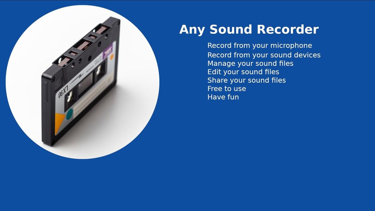 Any Sound Recorder featured - Tổng hợp 6 ứng dụng UWP chọn lọc cho Windows 10 nửa đầu tháng 6/2019
