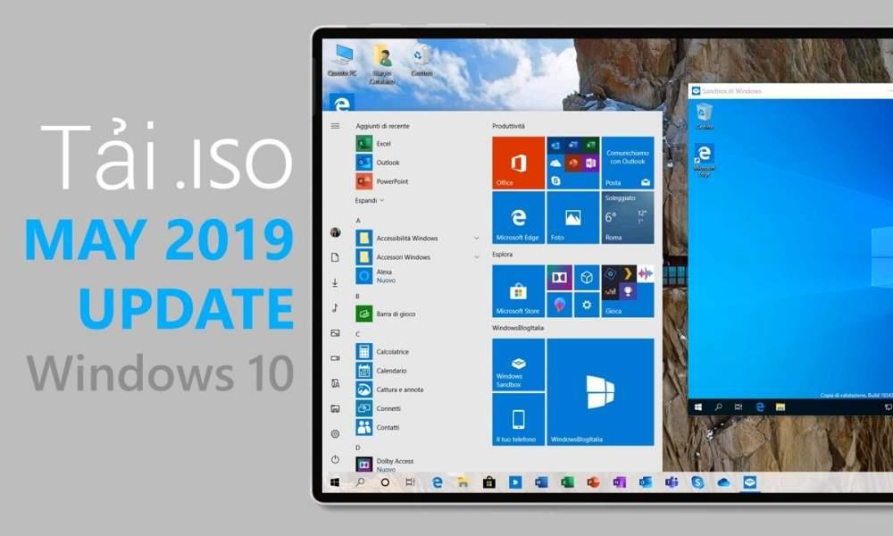 Windows 10 May 2019 Update 1000x600 - Tổng hợp cách tải ISO cài đặt Windows 10 build 1903