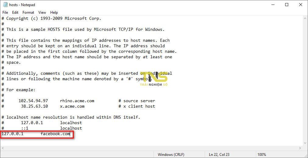 hosts file 3 - Cách chặn một trang web trên Microsoft Edge