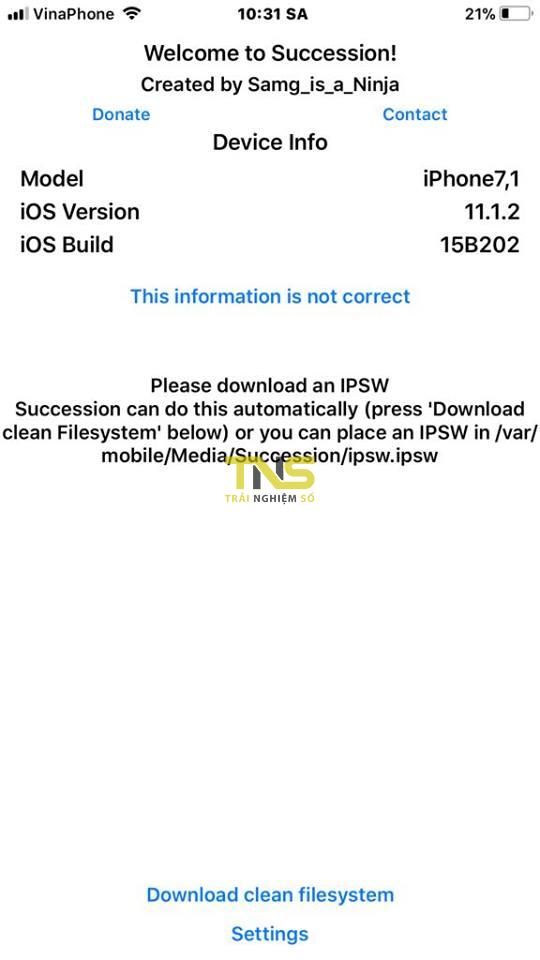 succession 8 - Hướng dẫn restore iOS giữ nguyên phiên bản với Succession