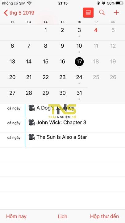 them lich phim 5 - Cách thêm lịch chiếu phim 2019-2020 vào iOS, Android