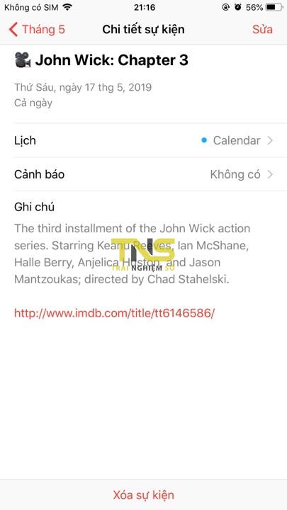 them lich phim 6 - Cách thêm lịch chiếu phim 2019-2020 vào iOS, Android
