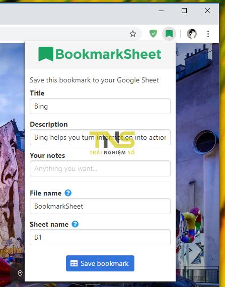 2019 06 01 15 58 45 - Cách lưu trang web trên Google Chrome vào Google Sheet