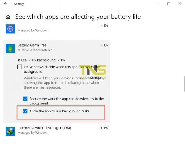 2019 06 24 9 53 45 600x470 - Giám sát pin laptop khi sạc đầy, dung lượng thấp qua email