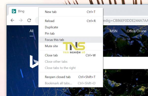 2019 06 27 11 52 16 600x389 - Mở tab trên Chrome trong cửa sổ Focus Mode