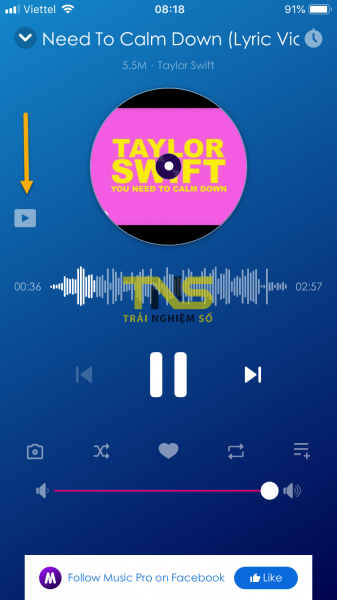 IMG 1143 337x600 - Music Pro: lựa chọn mới nghe nhạc YouTube tắt màn hình