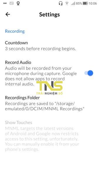 Screenshot 20190610 100610 338x600 - Quay video màn hình trên Android với MNML Screen Recorder