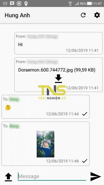 Screenshot 20190612 114716 1 338x600 - Dùng Copiosus P2P Chat trò chuyện an toàn giữa Android và Windows 10