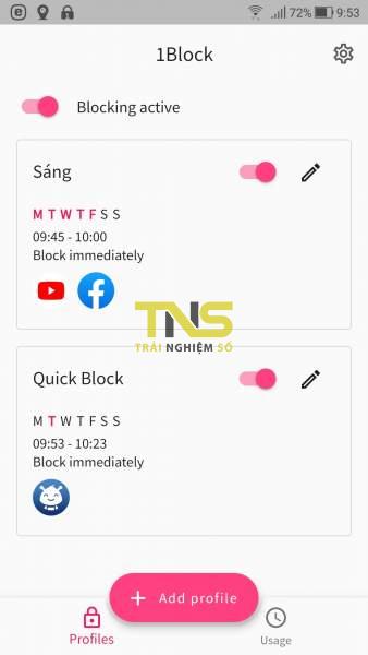 Screenshot 20190618 095337 338x600 - Ngăn sử dụng ứng dụng Android với 1Block