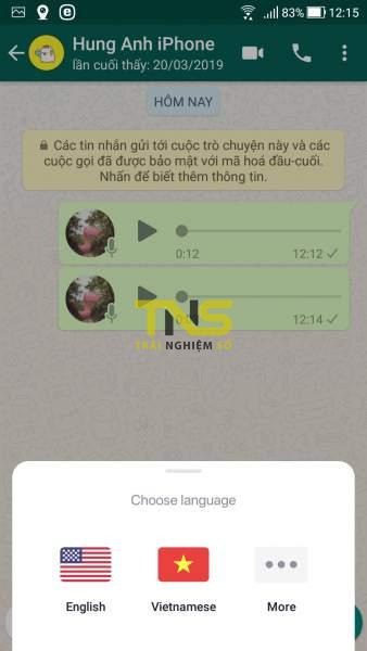Screenshot 20190622 121507 338x600 - Voicepop: Chuyển tin nhắn thoại 120 ngôn ngữ thành văn bản
