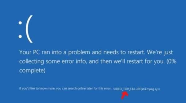 VIDEO TDR TIMEOUT DETECTED 600x334 - Cách khắc phục 7 lỗi phổ biến của màn hình xanh chết chóc trên Windows 10