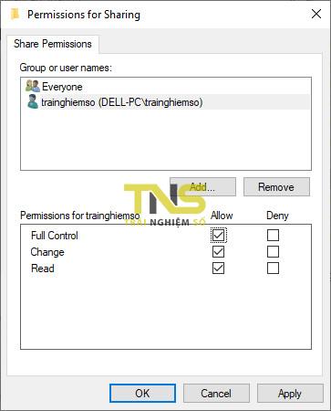 Cách share file trên Windows 10 qua giao thức SMB 11