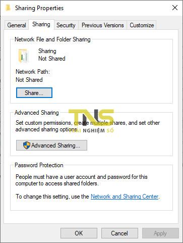 Cách share file trên Windows 10 qua giao thức SMB 7