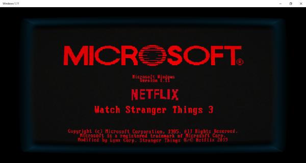 Trải nghiệm Windows 1.0 phiên bản Stranger Things 4
