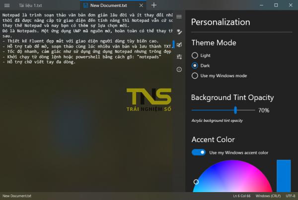 Notepads: Soạn văn bản theo tab, hỗ trợ giao diện tối và miễn phí 2