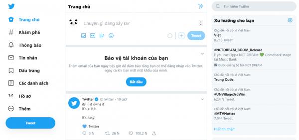 Cách giúp giao diện Twitter mới gọn gàng hơn