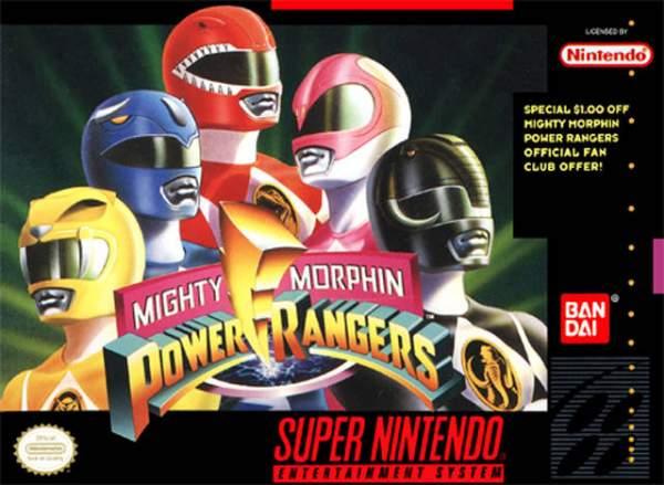 snes mighty morphin power rangers p o4lfck 600x439 - Top những tựa game 5 anh em siêu nhân (Power Rangers) đáng chơi nhất