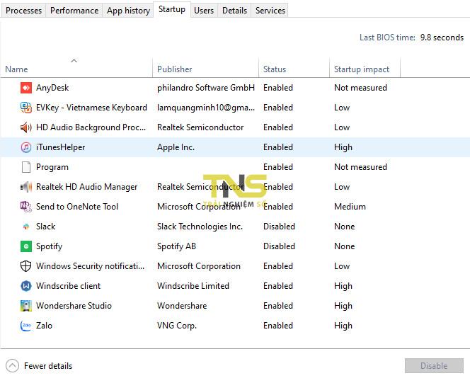 tat chuong trinh khoi dong cung win 10 1 - Tắt chương trình khởi động cùng Windows 10