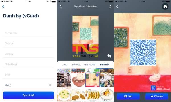 vCard 600x356 - Tạo danh thiếp ảo thật ấn tượng với QR BizCard Smart