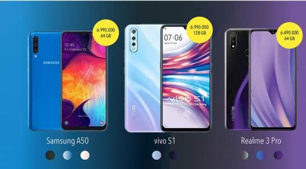 """1566787653 infographic so gang 3 chiec smartphone duoi 7 trieu hot nhat he nay 01 600x332 - [Infographic] """"So găng"""" 3 chiếc smartphone dưới 7 triệu hot nhất hè này: vivo S1, Galaxy A50 và Realme 3 Pro"""