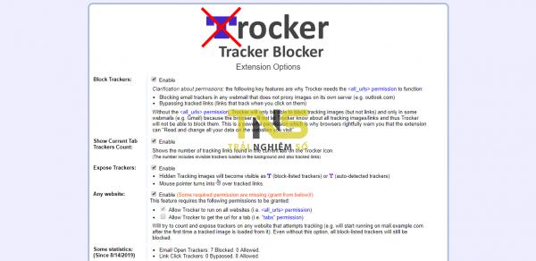 2019 08 14 17 15 42 600x292 - Dùng Trocker chặn trình theo dõi email trên Gmail, Outlook, Yahoo! Mail,...