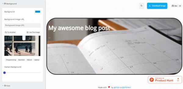Thiết kế ảnh bìa cho blog với BlogCover 2