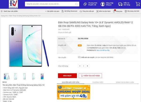Phong Vũ bán smartphone từ 29/8 1