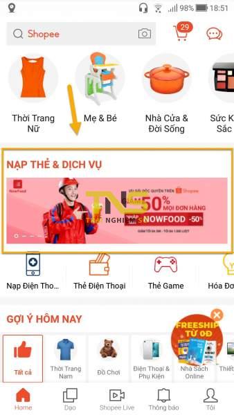 Screenshot 20190819 185146 338x600 - Cách đặt món trên Now.vn từ ứng dụng Shopee