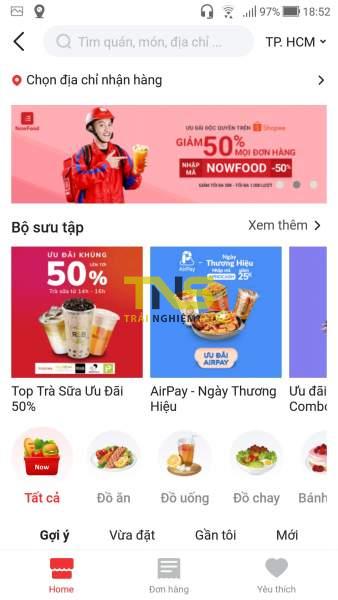 Screenshot 20190819 185204 1 338x600 - Cách đặt món trên Now.vn từ ứng dụng Shopee