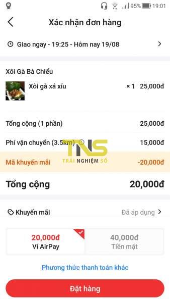 Screenshot 20190819 190148 338x600 - Cách đặt món trên Now.vn từ ứng dụng Shopee