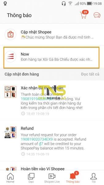 Screenshot 20190819 190835 338x600 - Cách đặt món trên Now.vn từ ứng dụng Shopee