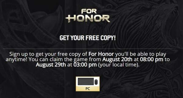 for honor 1 600x323 - Đang miễn phí game For Honor: Standard Edition trên Uplay