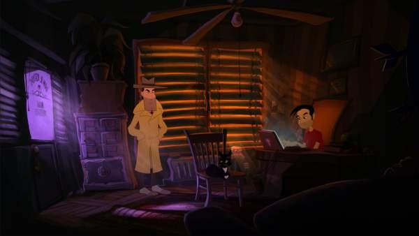 gibbous a cthulhu adventure screenshot 2 600x338 - Đánh giá game Gibbous: A Cthulhu Adventure