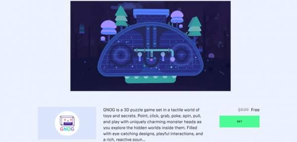 Miễn phí game giải đố 3D GNOG trên Epic Games Store