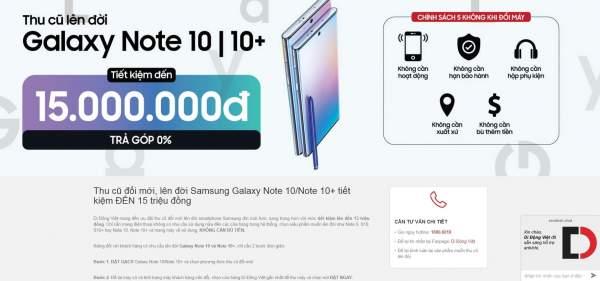 """note10 600x281 -""""Thu cũ, đổi mới Note10"""" cửa hàng định giá Note 8 chỉ 400 ngàn đồng khiến người dùng bức xúc"""