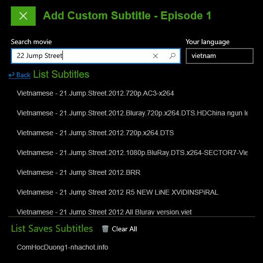 2019 09 09 16 37 58 - Xem phim nước ngoài với phụ đề tiếng Việt trên Windows 10