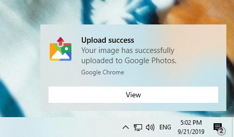 2019 09 21 17 02 41 - Cách upload ảnh lên Google Photos từ trang web bất kỳ
