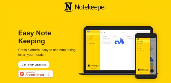 Lưu ghi chú, danh sách việc làm an toàn trên Notekeeper 1