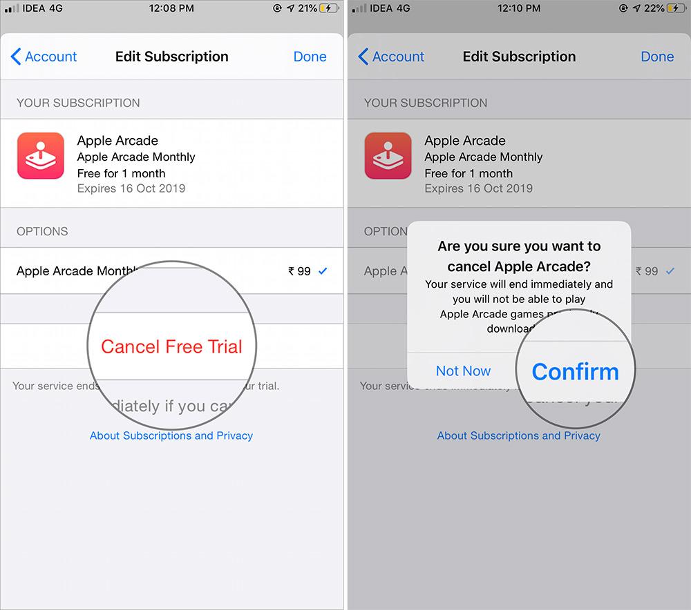 Cancel Apple Arcade Subscription on iPhone or iPad - Cách huỷ đăng ký Apple Arcade