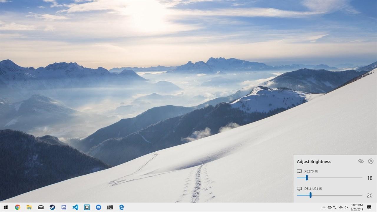 Twinkle Tray - 6 ứng dụng UWP chọn lọc cho Windows 10 nửa đầu tháng 10/2019